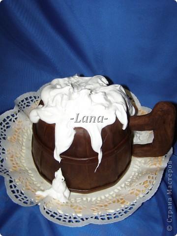Мастичный тортик в форме кружки фото 2