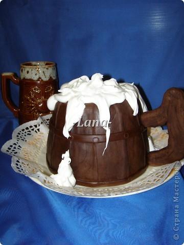 Мастичный тортик в форме кружки фото 3