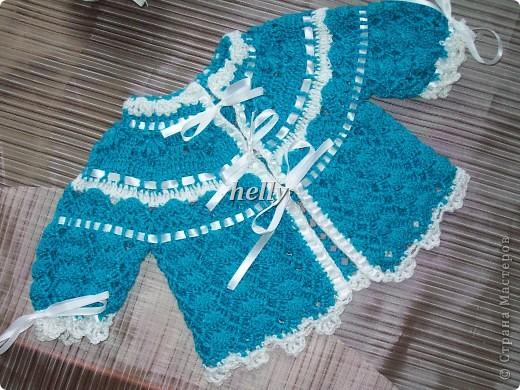Вязание кофт для новорожденных крючком 88