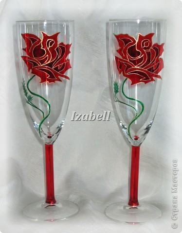 Бокалы с розами