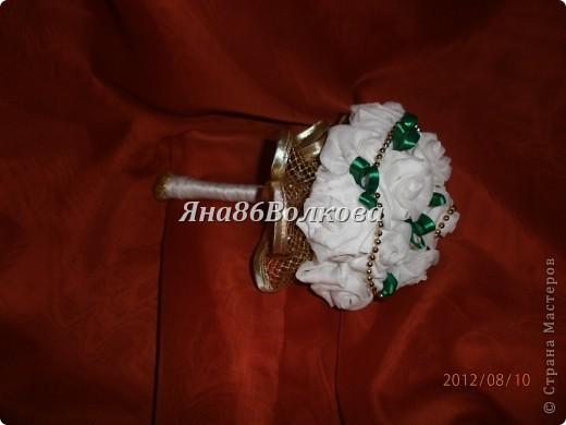 Вот каой букетик для невесты у меня получился. фото 1