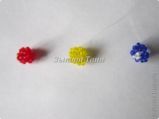 Мастер-класс Бисероплетение Плетение шариков из бисера Бисер фото 15.
