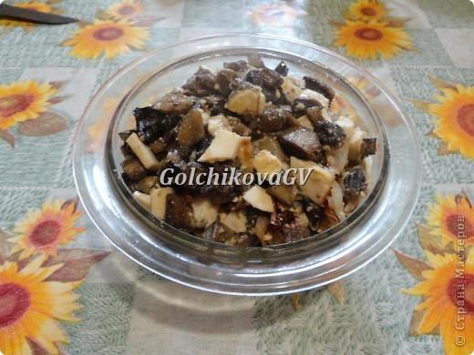 """Наступил сезон грибной """"охоты"""". И я предлагаю очень вкусный и легкий рецепт грибного блюда, который можно приготовить и в будние и праздничные дни. Может быть начинкой для пирогов или самостоятельным блюдом.  Одинаково вкусно и в горячем и холодном виде. фото 8"""