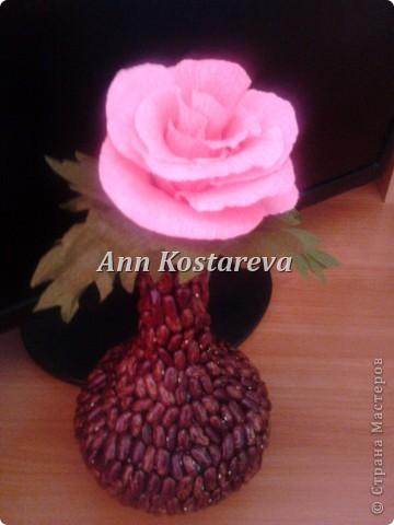 мой первый цветок)  очень долго собираюсь сделать конфетный букет, но для начала  решила потренироваться в отдельных элементах фото 2