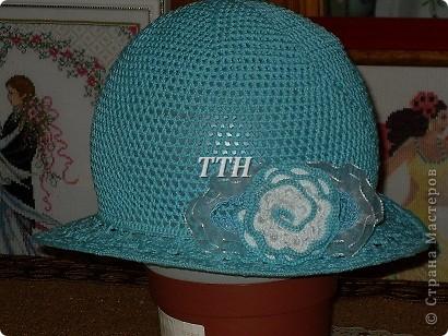 Шляпка связалась  к сарафанчику.Только жаль не удалось запечатлеть на самой модельке. фото 3