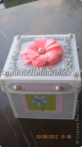 Благодарю за МК Alena090382.   вот моя коробочка с одной стороны фото 1