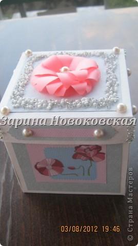 Благодарю за МК Alena090382.   вот моя коробочка с одной стороны фото 2