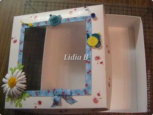 Сегодня у меня шкатулки. Первую делала по МК Астории http://astoriaflowers.blogspot.com/2012/05/blog-post.html. Спасибо огромное Насте за подробный мастер-класс. Работать было - одно удовольствие! фото 4