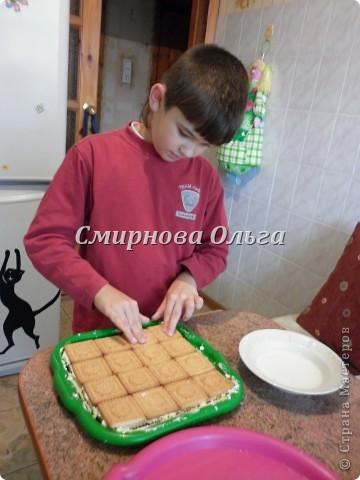 Тортик очень прост в приготовлении... Его может сделать и 3-х летний ребёнок под руководством родителя. фото 18