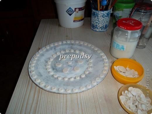 Решила показать как я делаю тарелки из газет.Это последняя тарелка, она для бело-голубой кухни. А теперь обо всем подробно. фото 8