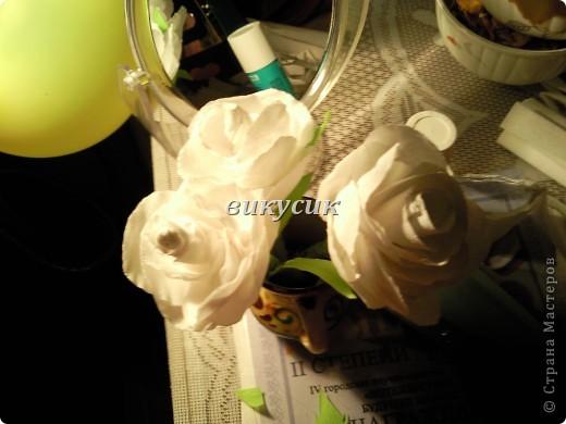 Всё что вам понадобится это: белая и зелёная гафрированная бумага, проволка 20см, карандаш простой без ластика, клей карандаш, клей ПВА, ножницы и ваша фантазия. фото 3