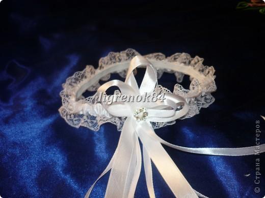 Свадебные подвязки невесты фото 4