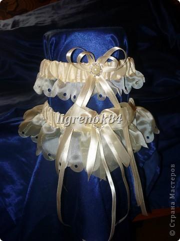 Свадебные подвязки невесты фото 5