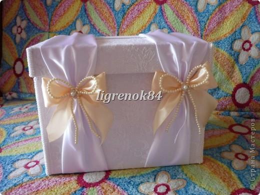 Свадебный сундучок (коробка) для денег фото 7