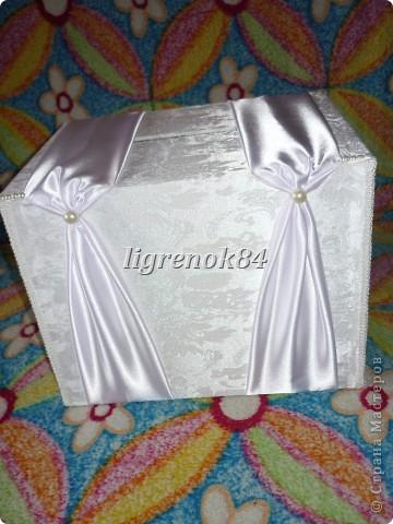 Свадебный сундучок (коробка) для денег фото 5