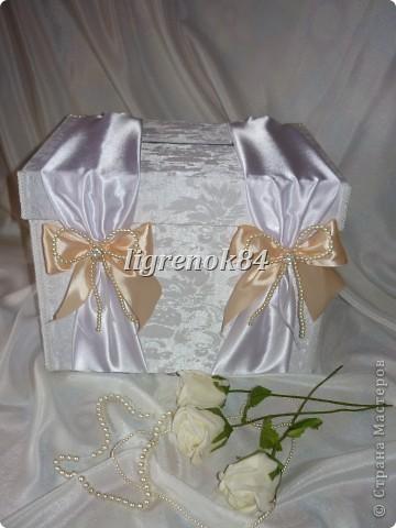 Свадебный сундучок (коробка) для денег фото 1