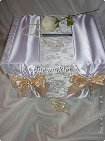 Свадебный сундучок (коробка) для денег фото 2