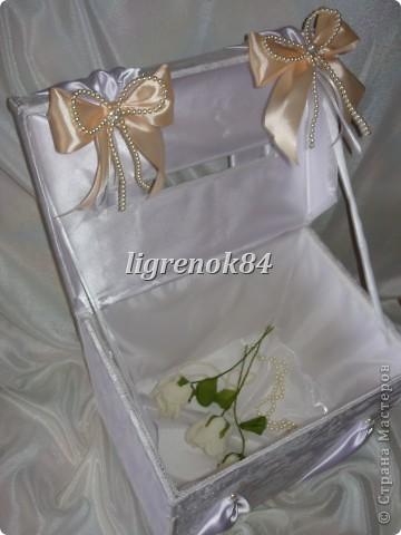 Свадебный сундучок (коробка) для денег фото 3