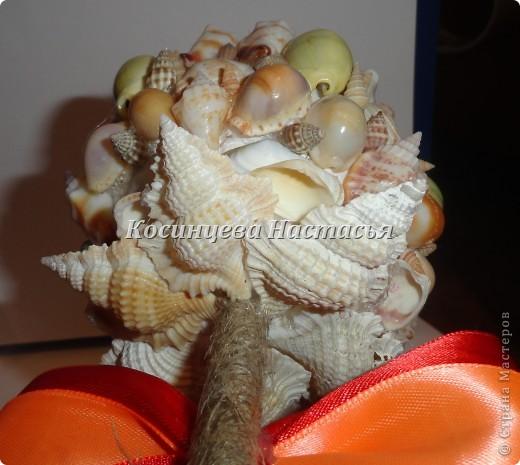 здравствуйте,хочется показать вам мой топиарий из ракушек)надеюсь вам понравится)) фото 5