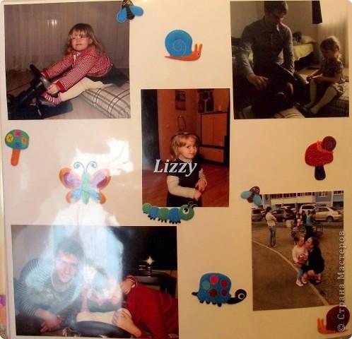 """С моей самой младшей сестрой разница 19 лет, решила сделать ей альбом. Прошу строго не судить, до """"скрапбукового идеала"""" далеко, но будем учиться:) за качество фото извиняюсь, погода была пасмурная, много бликов получилось:( Страницы не все, так как и этот альбом, как и мой предыдущий, получился очень толстый:) фото 21"""