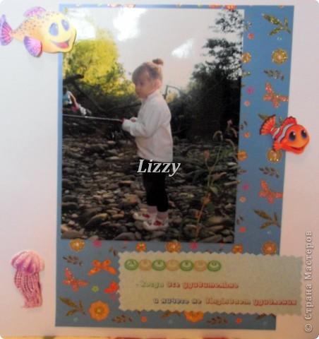 """С моей самой младшей сестрой разница 19 лет, решила сделать ей альбом. Прошу строго не судить, до """"скрапбукового идеала"""" далеко, но будем учиться:) за качество фото извиняюсь, погода была пасмурная, много бликов получилось:( Страницы не все, так как и этот альбом, как и мой предыдущий, получился очень толстый:) фото 34"""