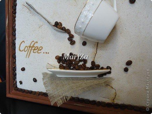 Доброго времени суток, жители Страны мастеров! Родилось вот такое кофейное панно в подарок на День рождения... фото 9