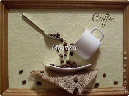 Доброго времени суток, жители Страны мастеров! Родилось вот такое кофейное панно в подарок на День рождения... фото 2