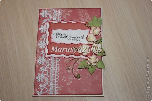 Вот такая нежная розовая открытка кого-то обрадует в день рождения! фото 2