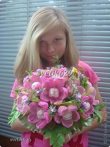 Этот букетик я сделала для дочки на 1 сентября. фото 13
