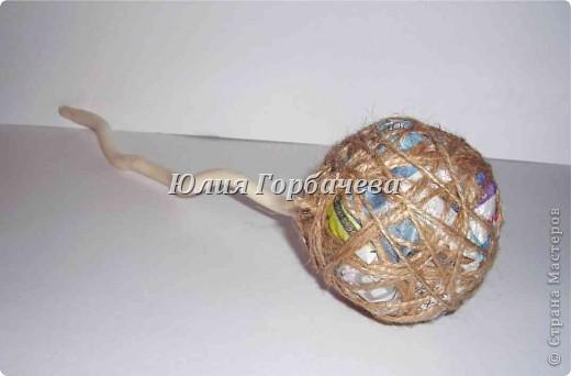 Очень простой с минимумом материалов и времени способ изготовления шариков для топиариев любого размера. фото 6