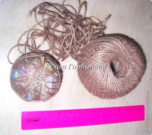 Очень простой с минимумом материалов и времени способ изготовления шариков для топиариев любого размера. фото 5