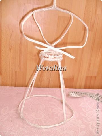 Куклы Мастер-класс Шитьё Грелка на чайник и МК каркаса нижней юбки Проволока Ткань фото 9