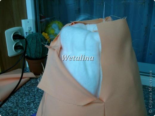 Куклы Мастер-класс Шитьё Грелка на чайник и МК каркаса нижней юбки Проволока Ткань фото 18