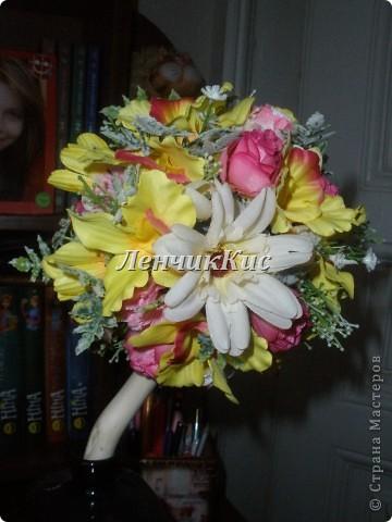 Вот такие у меня были остатки цветов и я их не долго думая все использовала фото 2
