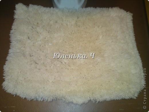 Украшение Шитьё Пушистый коврик МК Нитки фото 1