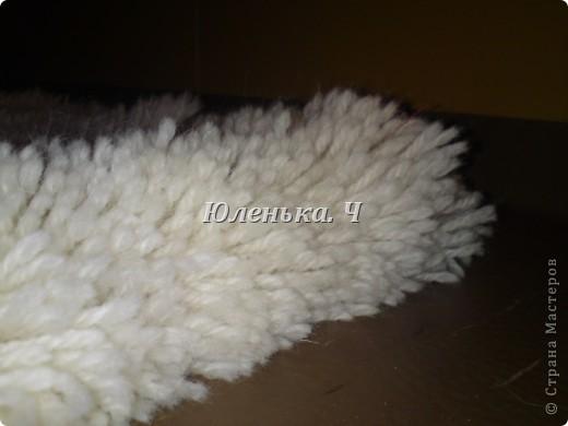 Украшение Шитьё Пушистый коврик МК Нитки фото 2
