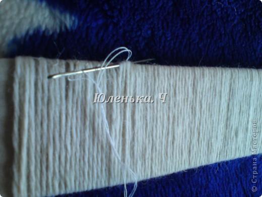 Украшение Шитьё Пушистый коврик МК Нитки фото 8