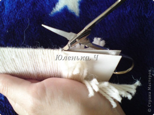 Украшение Шитьё Пушистый коврик МК Нитки фото 9