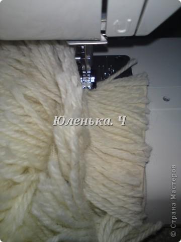 Украшение Шитьё Пушистый коврик МК Нитки фото 11