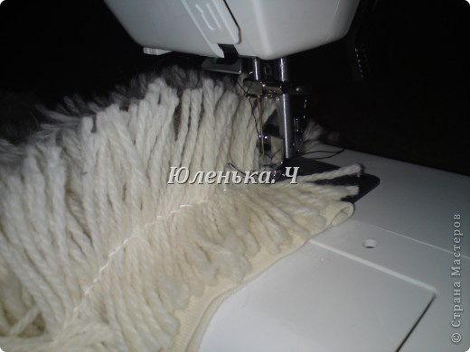 Украшение Шитьё Пушистый коврик МК Нитки фото 12