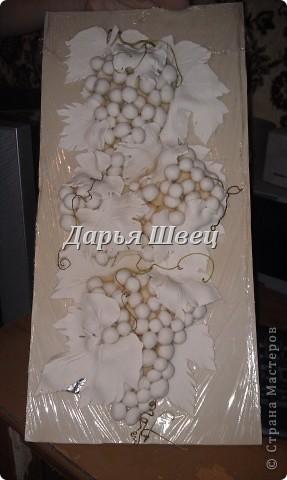 Картина панно рисунок Мастер-класс Лепка Виноград Тесто соленое фото 2