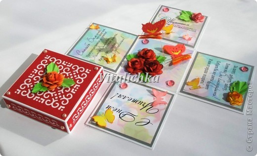 Поздравительные открытки-коробочки для учителей. Размер 7х7х7 см Надписи Марины Абрамовой http://marina-abramova.blogspot.com/ Розы по МК http://asti-n.ya.ru/replies.xml?item_no=184 фото 16