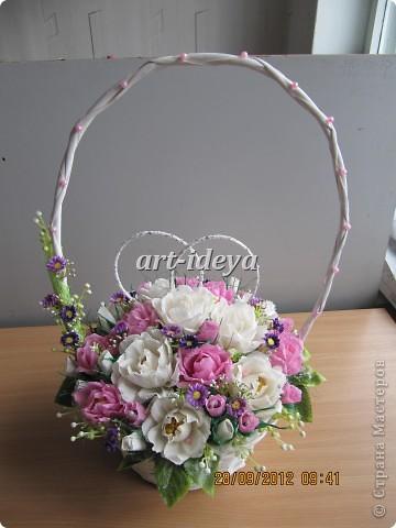 свадебная сладкая корзина фото 1