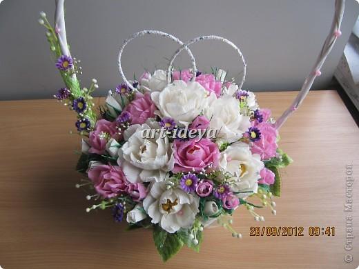 свадебная сладкая корзина фото 2