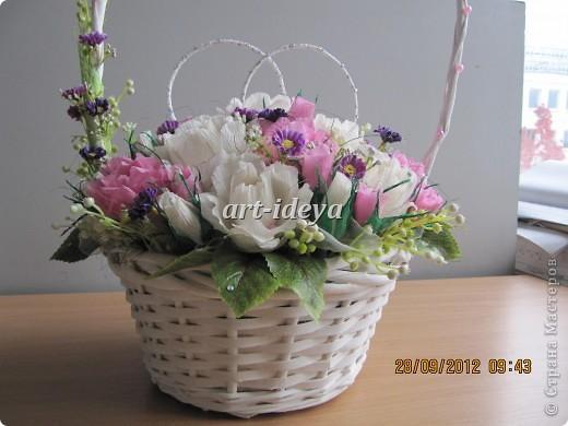 свадебная сладкая корзина фото 3