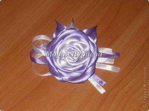 Розы-брошки-канзаши. фото 1