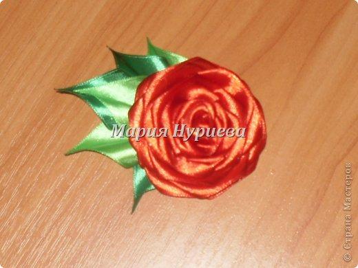 Розы-брошки-канзаши. фото 2