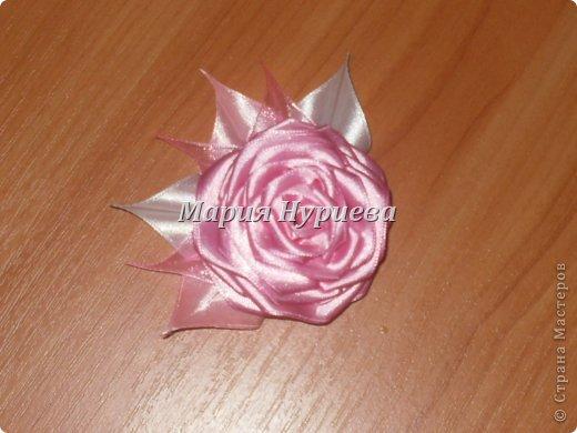 Розы-брошки-канзаши. фото 4
