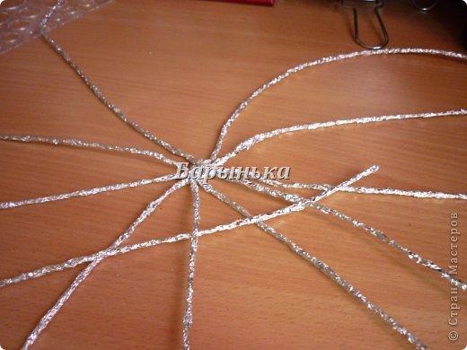Здравствуйте дорогие мастерицы, хочу Вам представить свою работу – серебряные цветочки в корзинке  из фольги.  фото 6