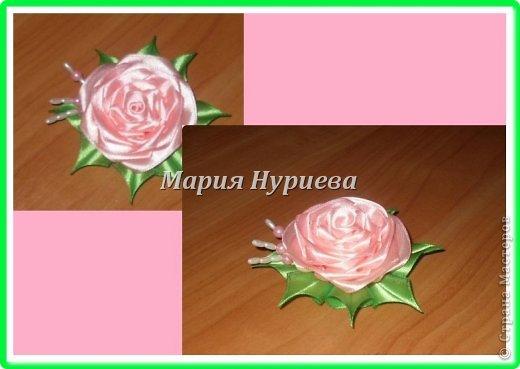 Розы-брошки-канзаши. фото 6